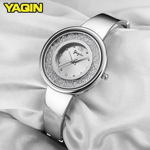 YAQIN Quartz Watch Women Stainless Steel Bracelet Watch
