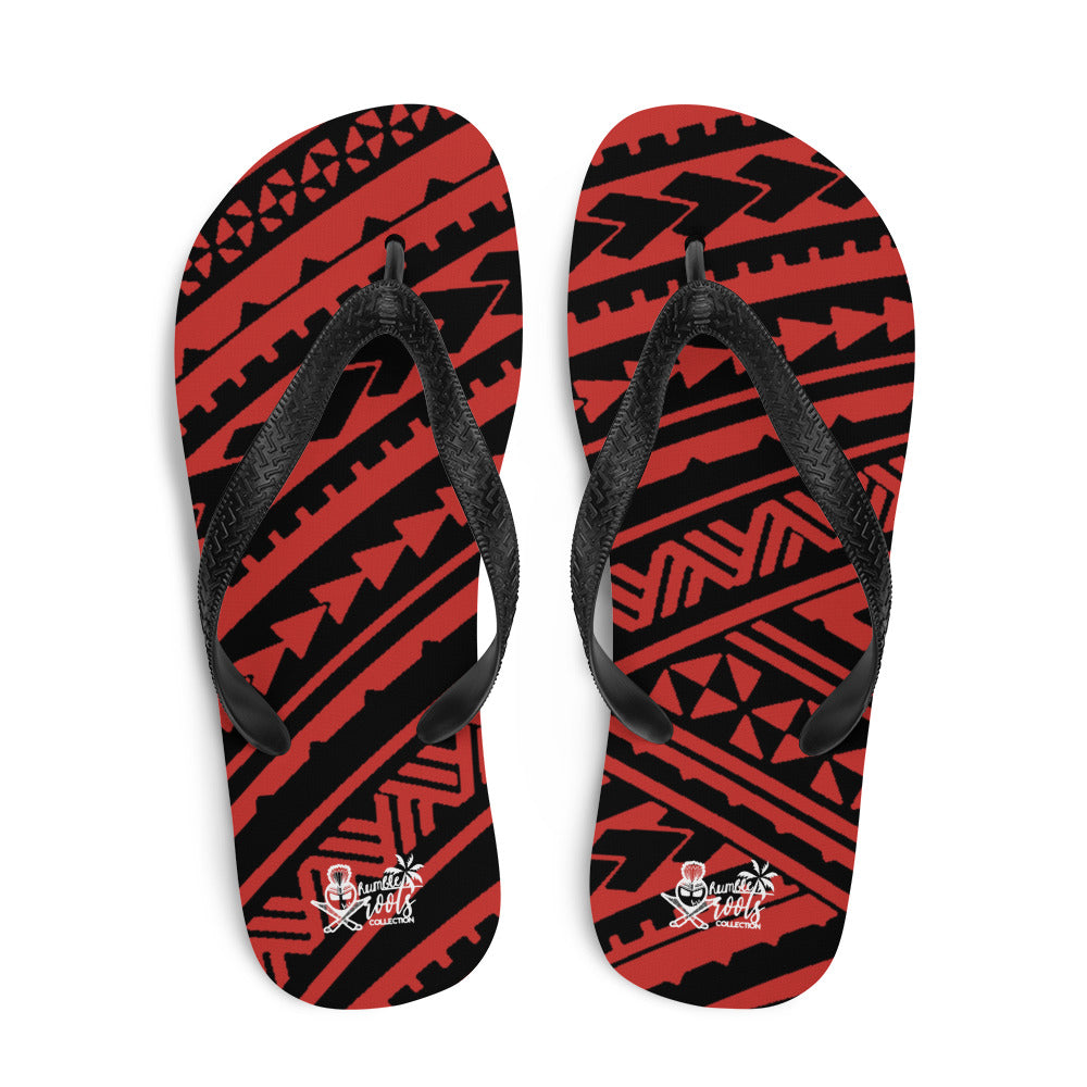 Spearhead Tribal Red Flip-Flops