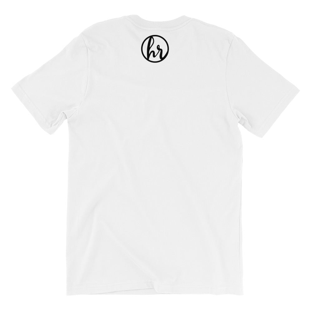Humility back of t-shirt white