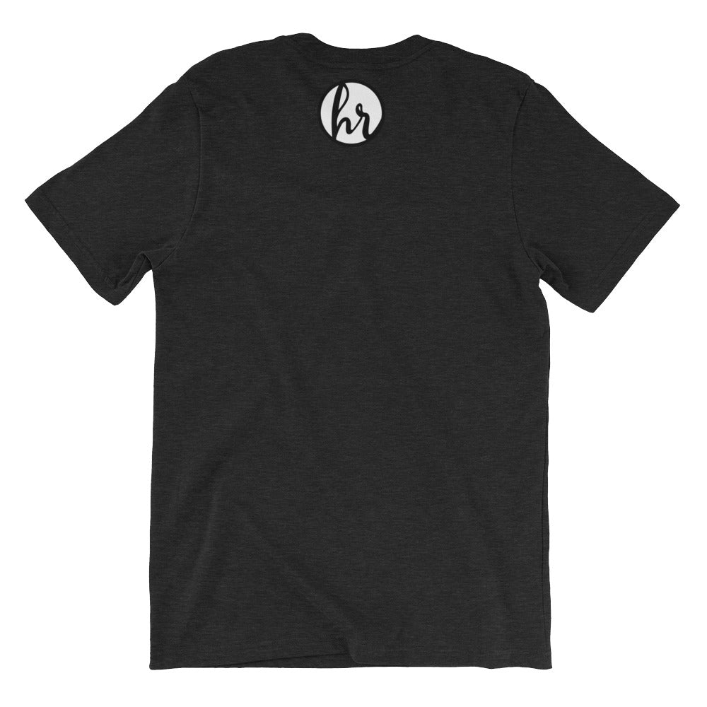 HRC Logo back of t-shirt black heather