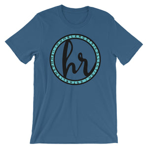 HRC logo front of t-shirt steel blue