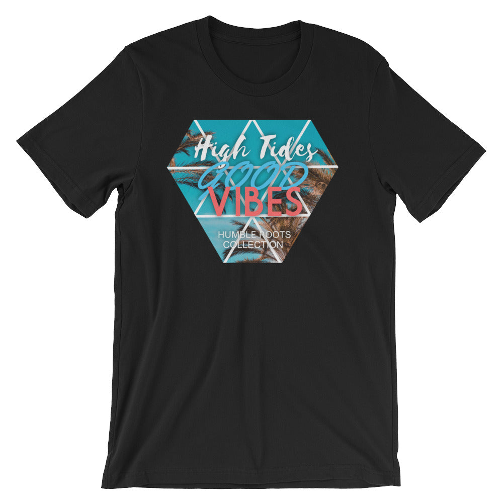 High tides front of t-shirt black