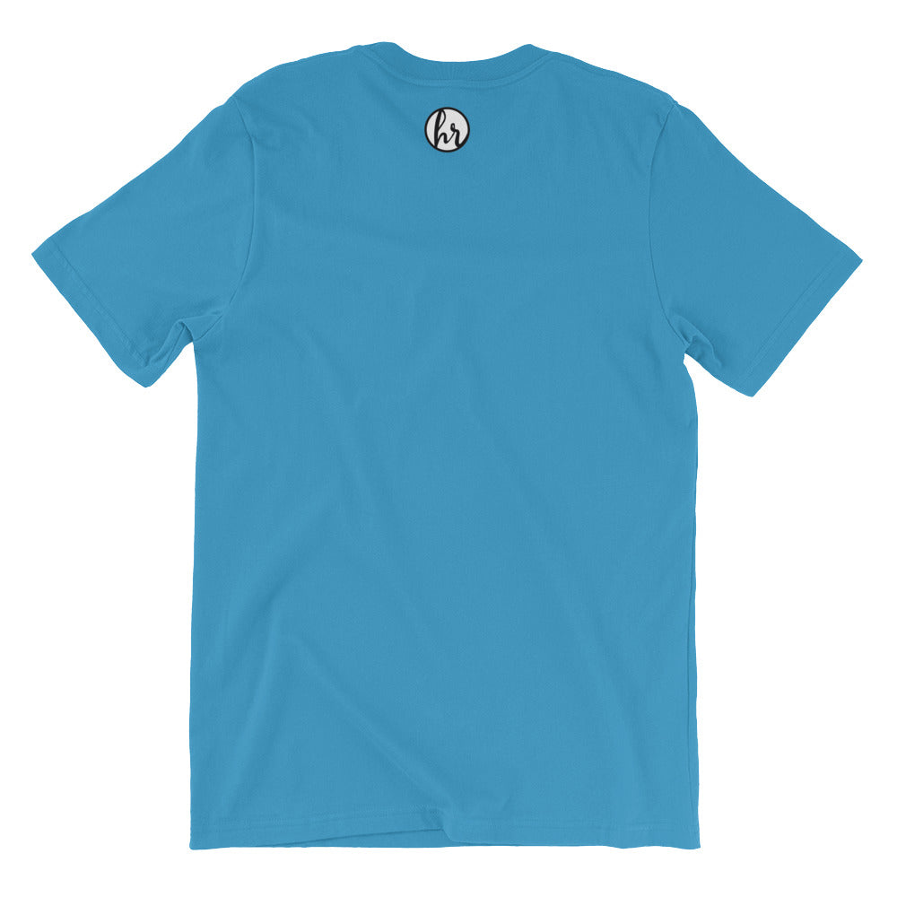 Humble garden back of t-shirt ocean blue