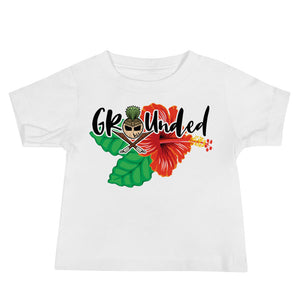 Stay Grounded Baby Girl Jersey Short Sleeve Tee