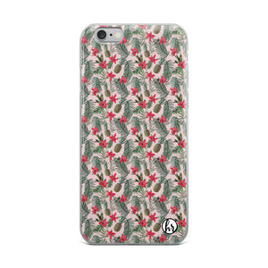 Tropical Pineapple iPhone Case