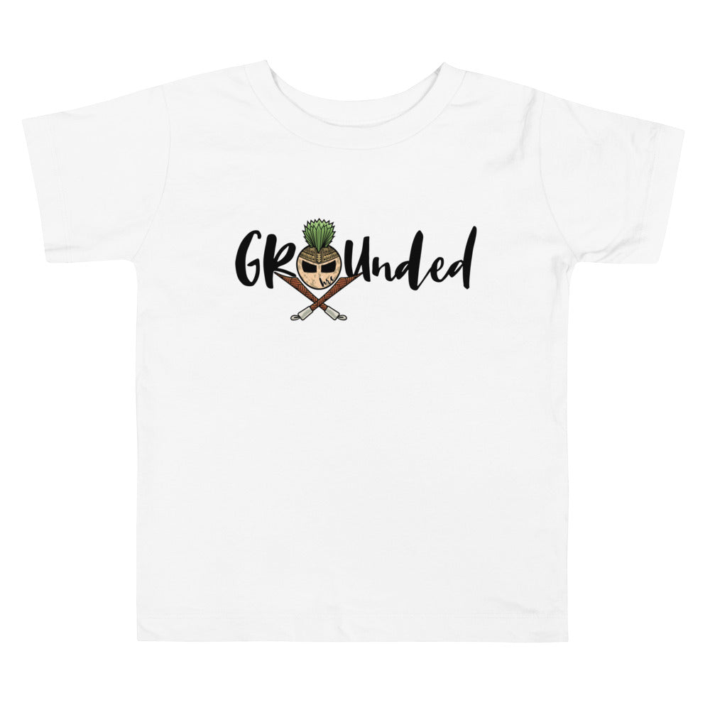 Stay Grounded Toddler Short Sleeve Tee (White)