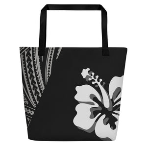 Hibiscus Night Beach Bag