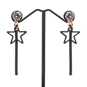 Star shapes with simple bar and crystal details make these fun and flirty.