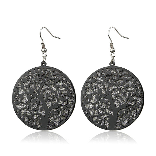 The ornate branches of the tree of life design give these drop earrings a beautiful look.black