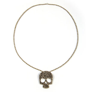 Flower Skull Necklace