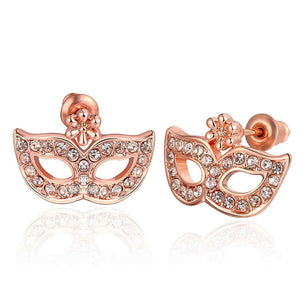 Small studs earrings in the shape of masquerade masks! So cute and unique!