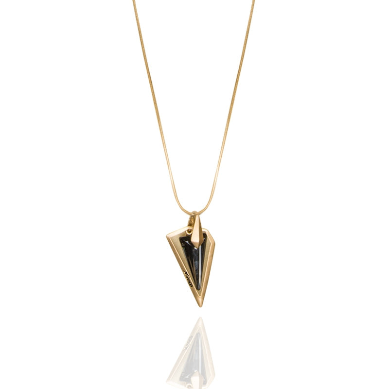 A geometric glass shard encased in silver or gold is just the perfect unique accessory. gold