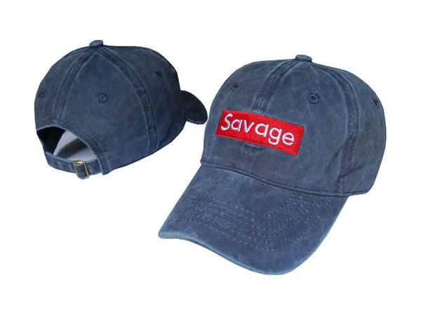 "Dad hat that reads ""savage"", add style with this adjustable, unisex hat. white"