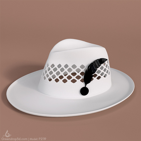 P2119 - Hat B - greendrop3d