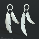 P2089 - Feather Earrings - greendrop3d