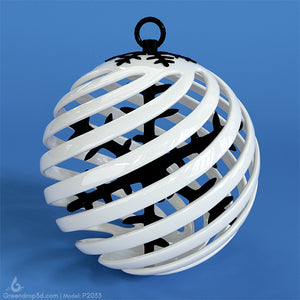P2033 - Christmas Baubles - greendrop3d
