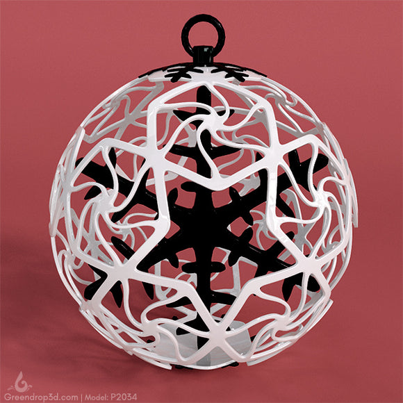 P2034 - Christmas Baubles - greendrop3d