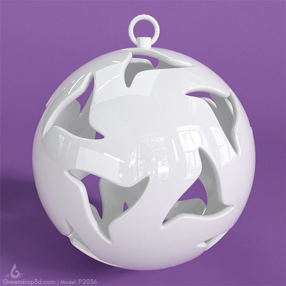 P2036 - Christmas Baubles - greendrop3d