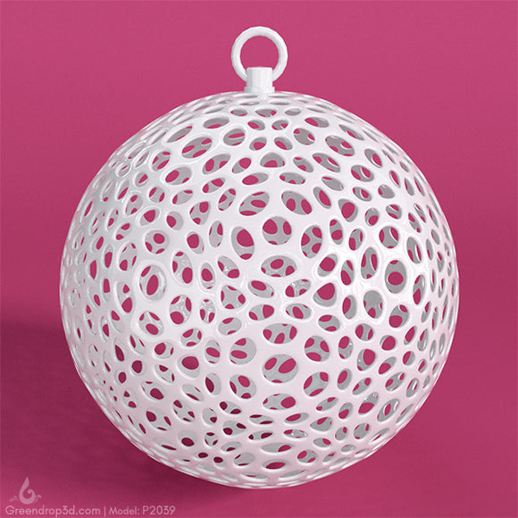 P2039 - Christmas Baubles - greendrop3d