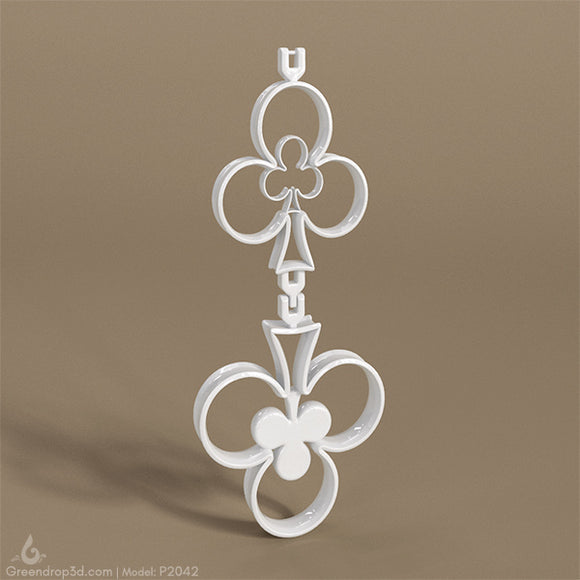P2042 - Club Earring - greendrop3d