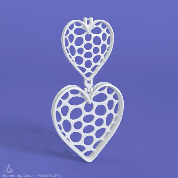 P2046 - Heart Earring - greendrop3d