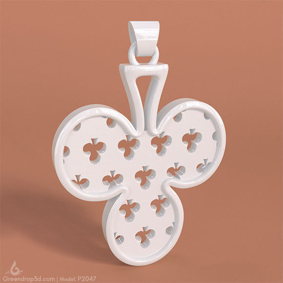 P2047 - Club Pendant - greendrop3d