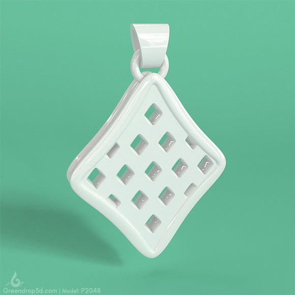 P2048 - Diamond Pendant - greendrop3d