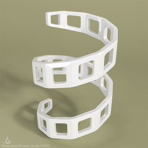 Curtain Holder - Lattice B - greendrop3d