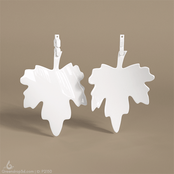 Leaf Earring - greendrop3d