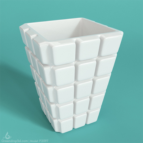 Cube Mini Vase C - greendrop3d