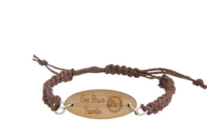 OBT Signature Bracelet - A truly personalized bracelet -  DARK BROWN