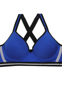Ladies criss-cross straps gentle push up support