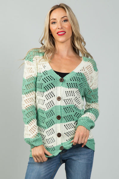 Ladies fashion  open knit cardigan