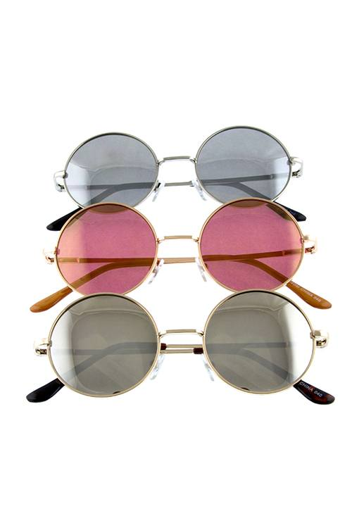 Womens hipster dapper round circle shaped sunglasses