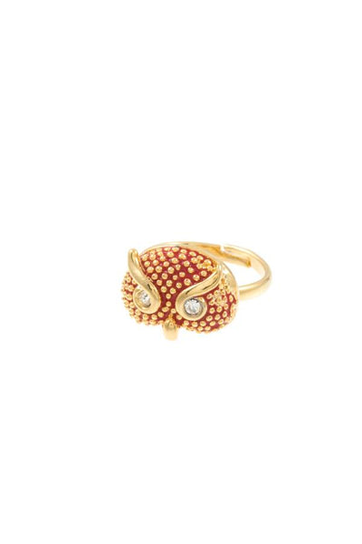 Dotted owl accent mid ring