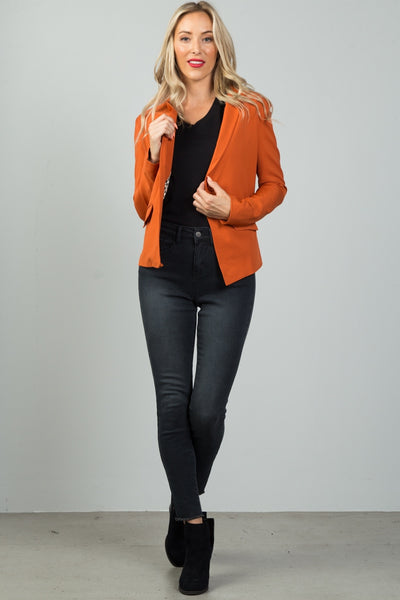 Ladies fashion single button blazer