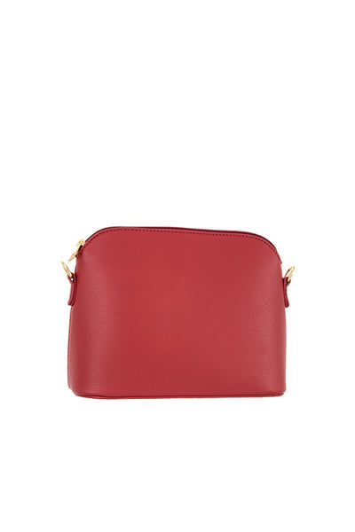 Faux leather dome crossbody bag