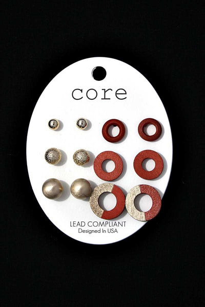 Circle multi earring set