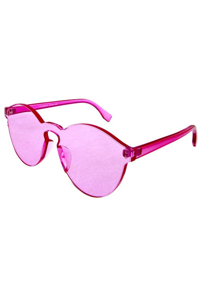 Womens thick transparent rimless horn sunglasses