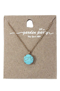 Circle shape pendant necklace
