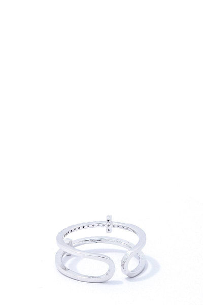 Fashion Cross Infinity Rhinestone Ring
