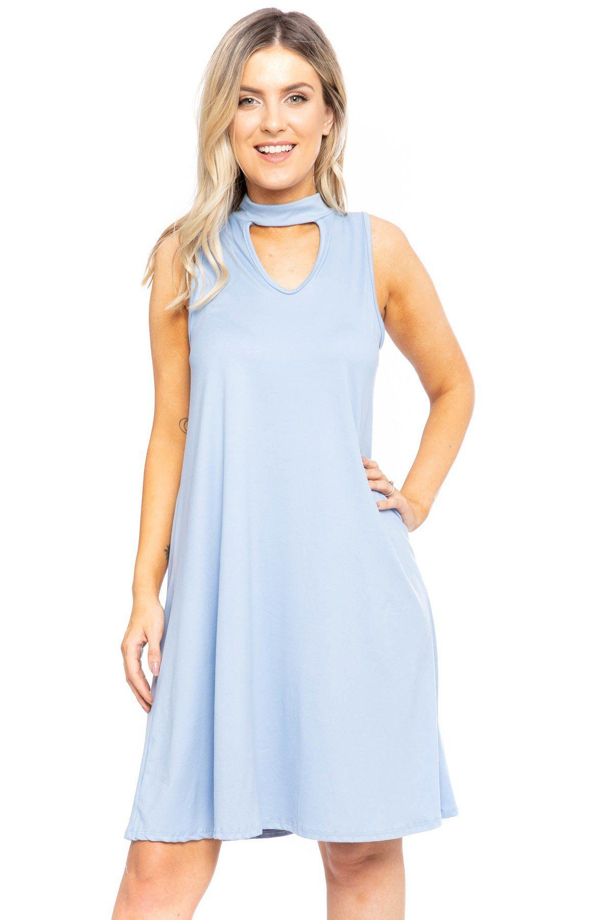 Sleeveless, Short A-line Dress