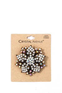 Chic Fashion Multi Rhinestone Flower Brooch