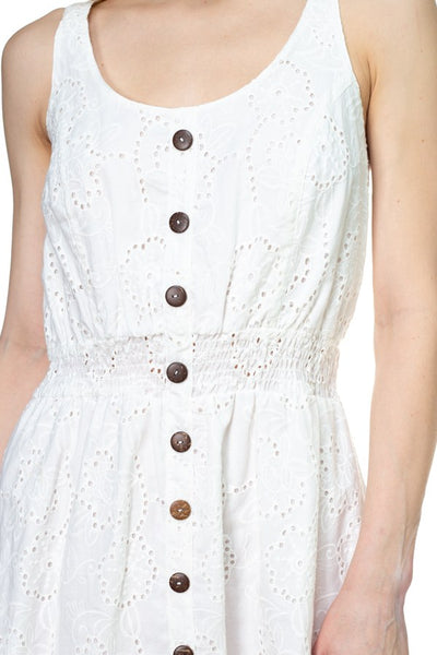 Floral Embroidered Sleeveless Dress