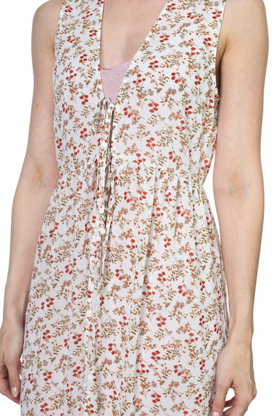 Floral Sheer Self Tie Duster