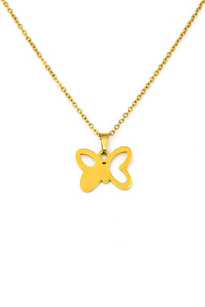 Cute Fashion Butterfly Pendant Necklace And Earring Set