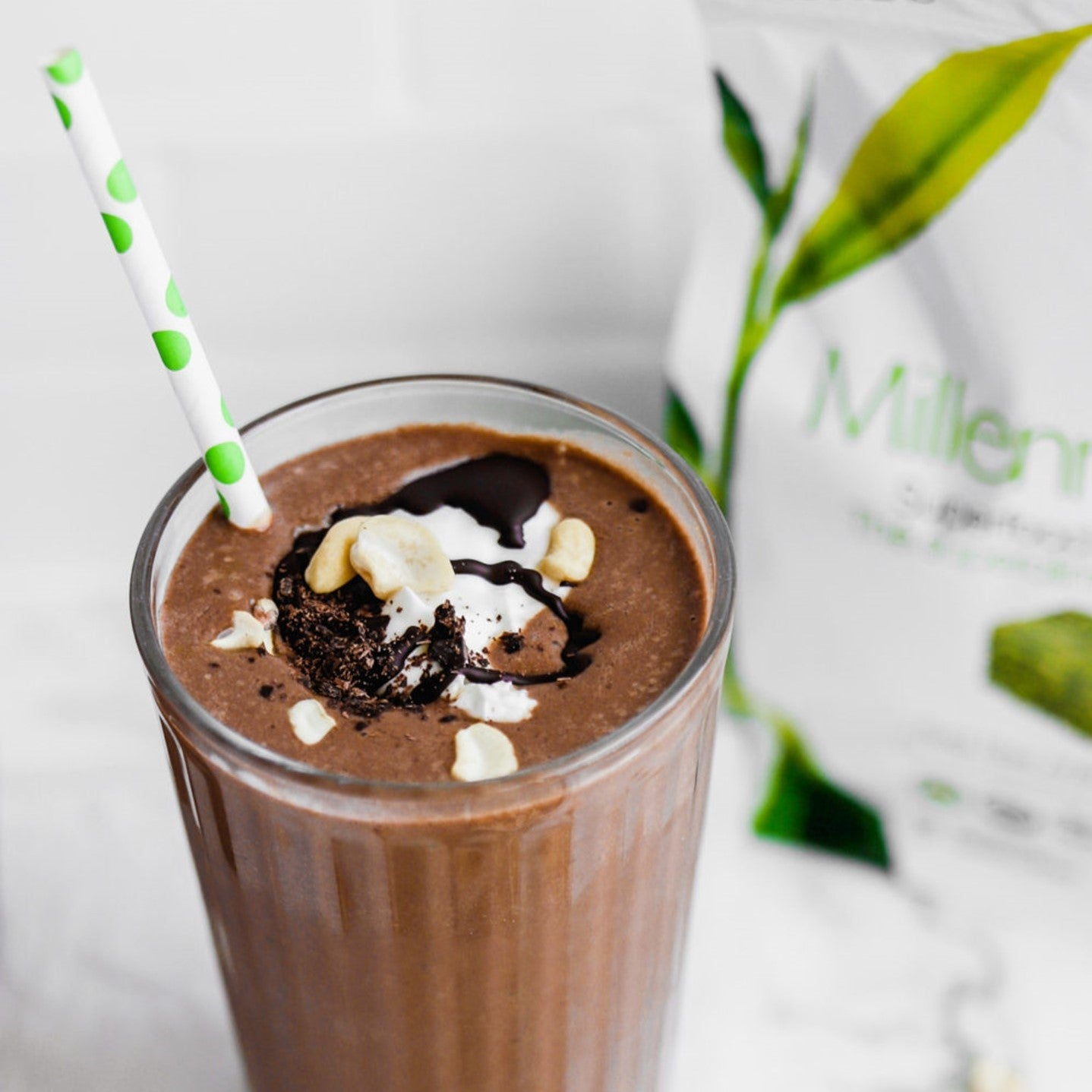 Chocolate Peanut Butter Superfood Smoothie
