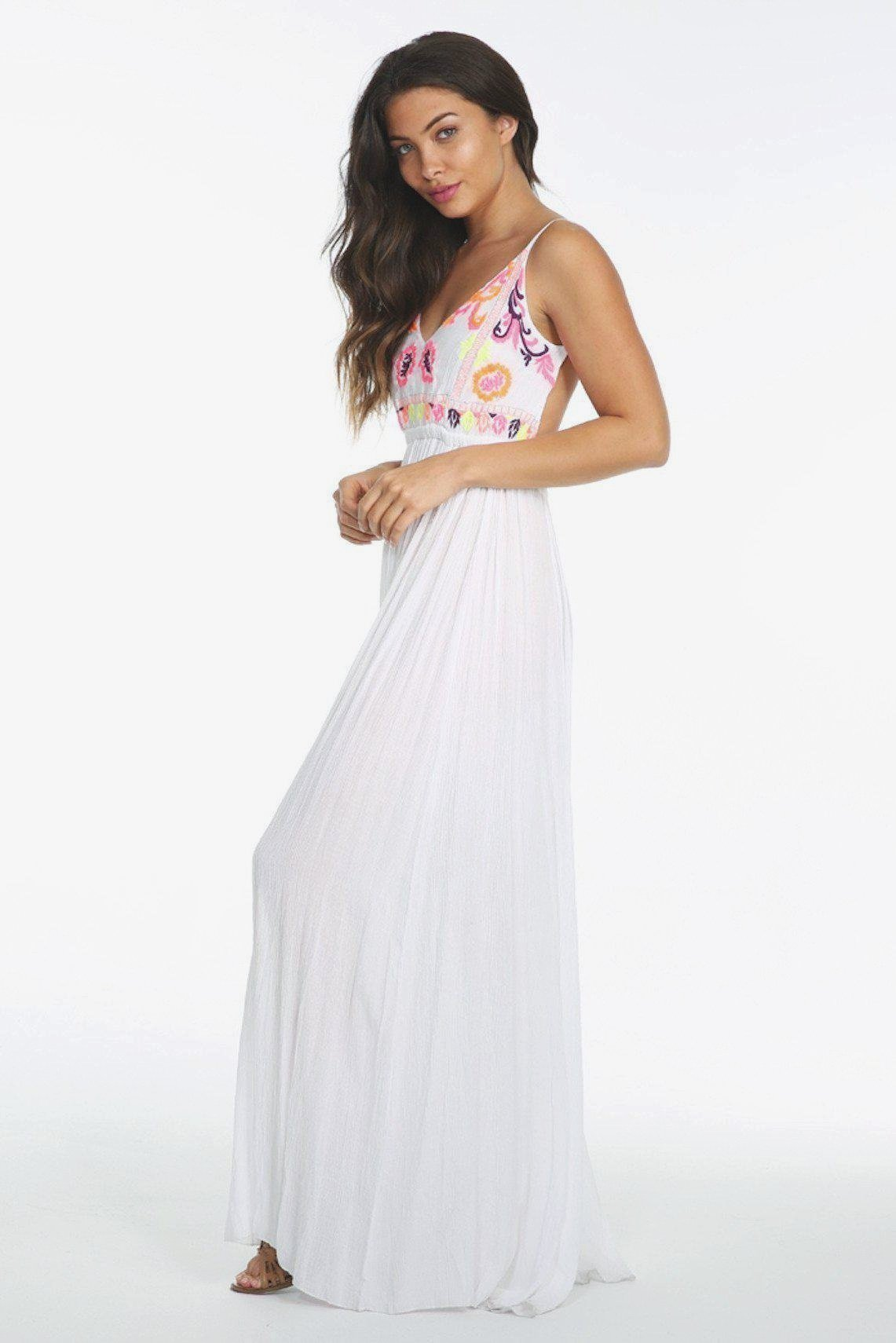 e109413475a8 White Backless Maxi Dress | Dresses | WanderChics.com