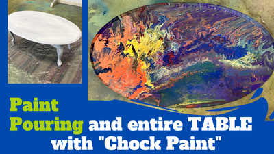 Go Bold! Paint Pouring a Table