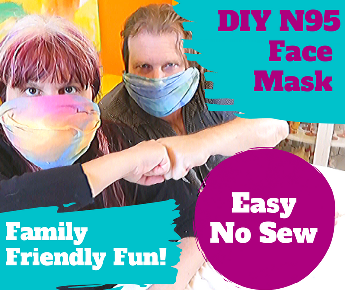 No Sew DIY Face Mask with Tanglewood Sue